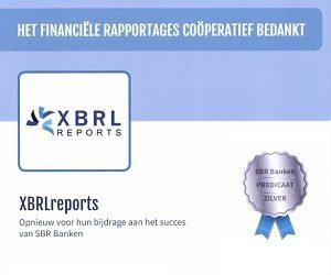 Wederom zilver predicaat van SBR Banken voor XBRLreports